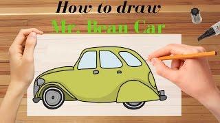 Draw mr. bean car