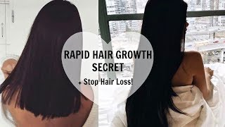HAIR GROWTH MIRACLE | HOW TO GROW LONGER THICKER HAIR FAST u0026 STOP HAIR LOSS (NATURALLY)