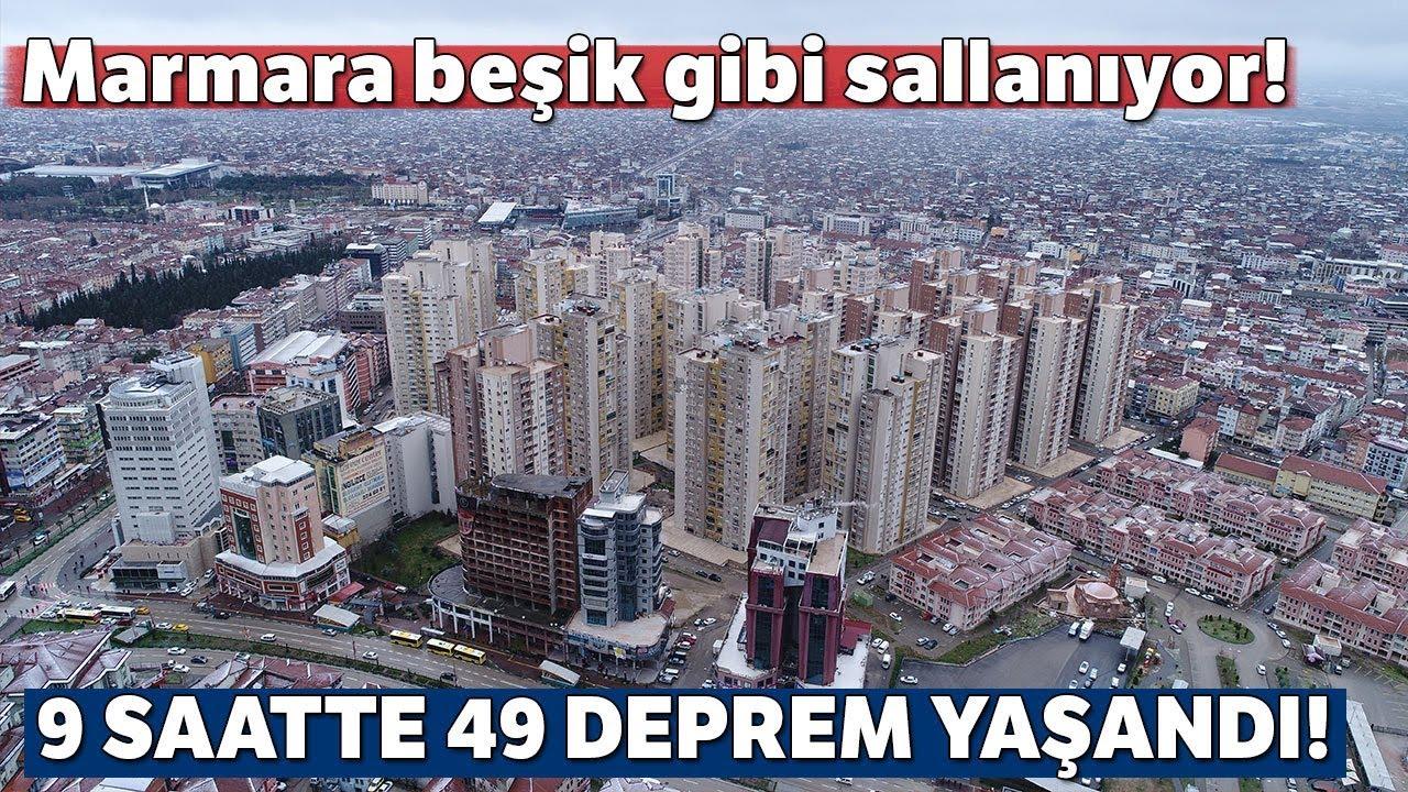 Marmara Beşik Gibi Sallanıyor! 9 Saatte 49 Deprem Meydana Geldi