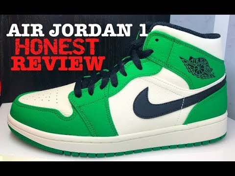 best website b8c46 eca6d Air Jordan 1 Mid Pine Green SE Retro 2019 Sneaker Detailed Honest Review   sneakerhead