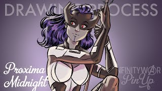 Proxima Midnight - Infinity War Pin-Up [DRAWING PROCESS]