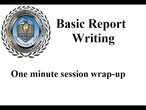 Police Report Writing - MLETI - NILEA - YouTube