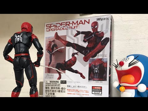 SHF Marvel Spider-man Upgraded Suit Far From Home Bandai S.H.Figuarts Review 蜘蛛俠 蜘蛛人 離家日 升級版戰衣 開箱