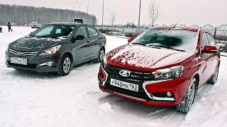 Лада Веста против Хендай Солярис Отзыв владельца Hyundai Solaris. Тест драйв Lada Vesta. смотреть