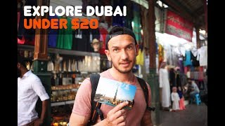 EXPLORE DUBAI UNDER $20 | DUBAI LAYOVER | TRAVEL VLOG
