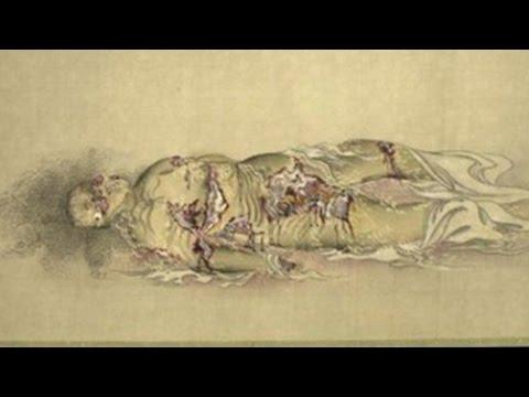 【閲覧注意】江戸時代の遊女が徐々に腐敗していく様子を描いた絵(九相図)がヤバイ Japanese Buddhist picture