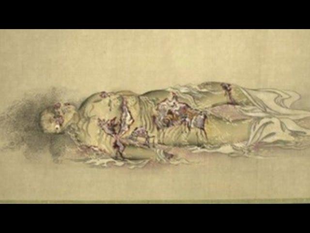 【閲覧注意】江戸時代の遊女が徐々に腐敗していく様子を描いた絵(九相図)がヤバイ Japanese Buddhist picture2:30