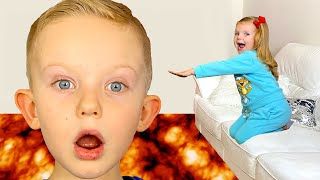 The Floor is lava and more kids videos with  Martin and Monica