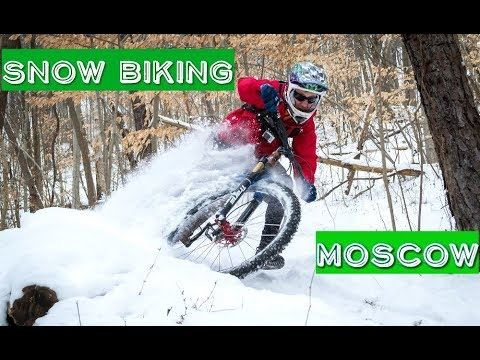 Snow Biking In Moscow, Russia