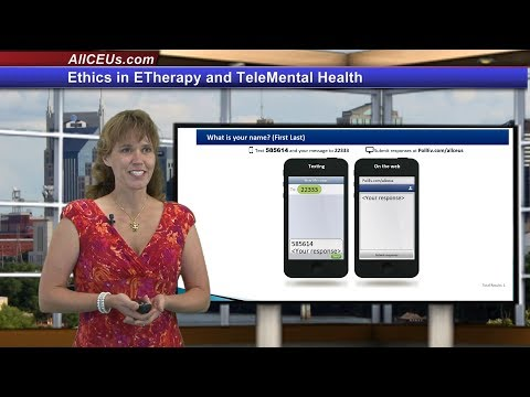 Ethics in ETherapy and TeleMental Health for Counseling CEUs for LPC and LMHC