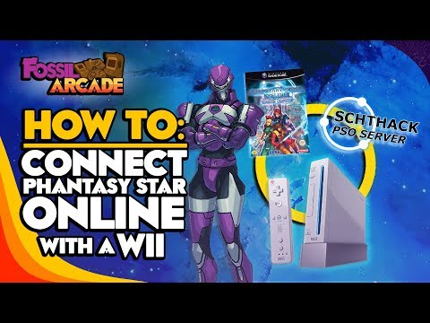 How to: Connect Phantasy Star Online with a Wii - Schtserv / Fossil Arcade