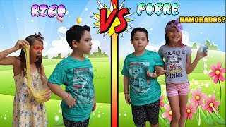 RICO VS POBRE FAZENDO AMOEBA / SLIME #10 | Biankinha