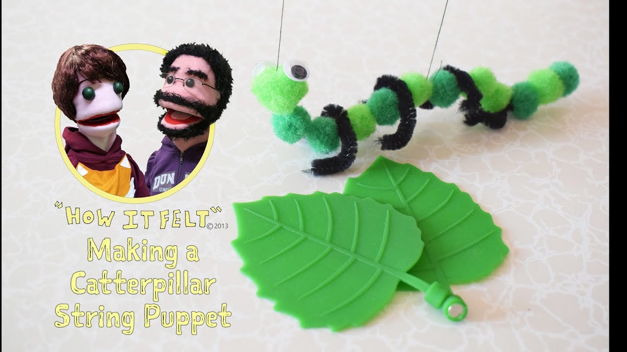 Fuzzy Finger Crafts: How to make a Caterpillar String Puppet