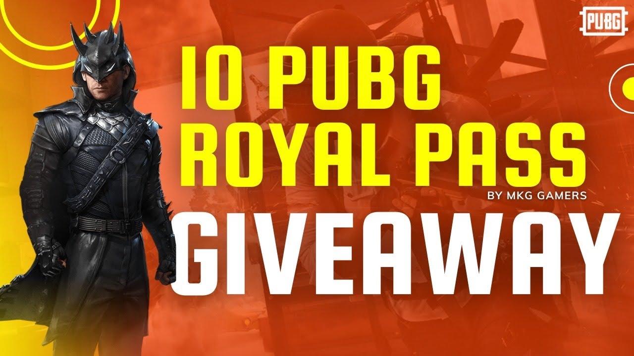 10 Royal Pass giveaway MGK GAMERZ