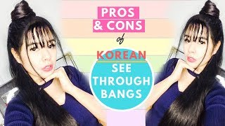 Pros & Cons of Korean See Through Bangs- Watch This  Before You Get Them-Beautyklove