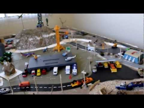 8'x8′ HO scale train layout PART 6