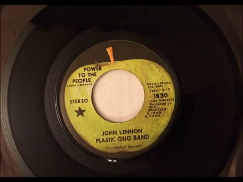 Power To The People , John Lennon , Plastic Ono Band , 1971 Vinyl 45RPM