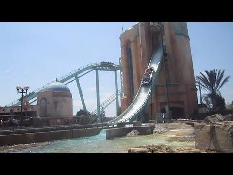 Journey to Atlantis Front Seat on-ride HD POV Seaworld San Diego