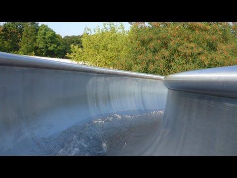 Sommerbad Berlin-Pankow - lange Wasserrutsche Onride