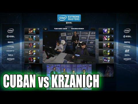 Mark Cuban vs Brian Krzanich (Intel CEO)   ARAM celebrity show match   IEM San Jose LoL 2015