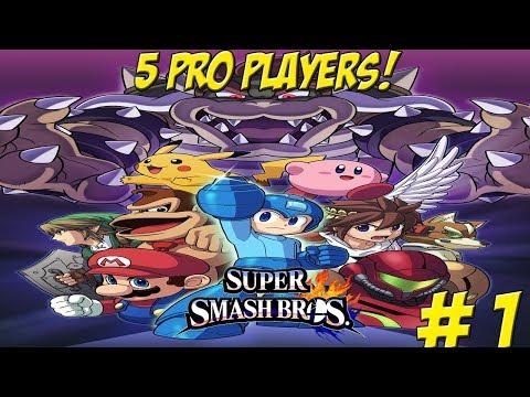 Professional Super Smash Bros. for Wii U! 5 Player Part 1 - YoVideogames