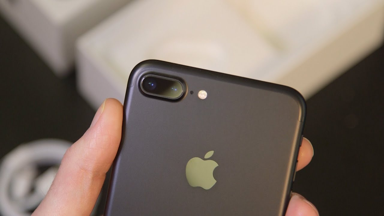 iphone 7 plus black unboxing. iphone 7 plus black unboxing e