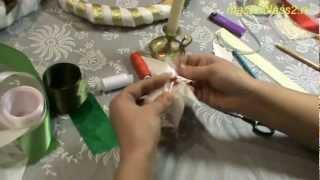 Мастер класс. Цветы из ткани Пуансеттия (handmade)