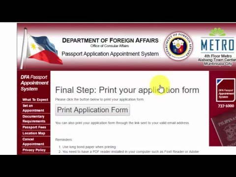 How To Get Dfa Passport Appointment Online 2016 Youtube