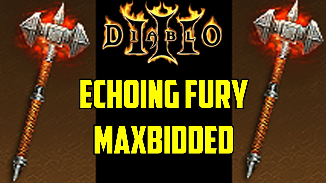 Image result for the echoing fury mace from diablo 3