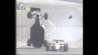 Big crash Christian Fittipaldi Monza 1993
