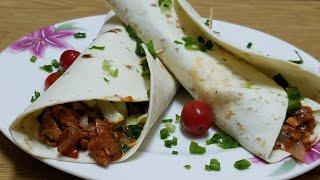 chicken Fajita Tortilla||How to make chicken Fajita Tortilla at home with easy step by step recipe.