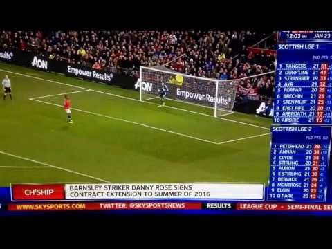Man U vs Sunderland league cup semi final second leg ( sky sports ) 22/01/2014