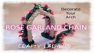 Rainbow Loom Easy Rose Garland Chain Bracelet Tutorial By Crafty Ladybug. Wonder Loom, Diy Loom