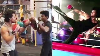Tiger Shroff's Amazing Boxing Stunt Practice For Baaghi 2