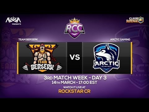 RCC - TEAM BERSERK VS ARCTIC GAMING !