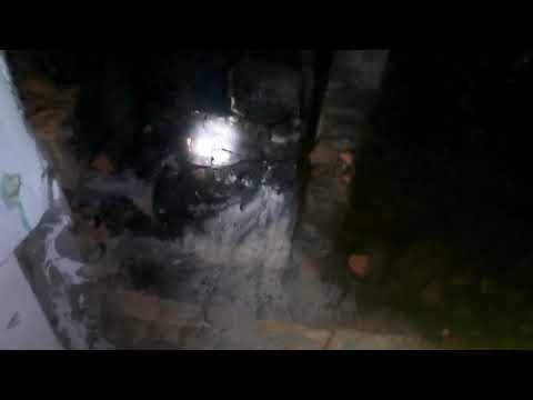 Груба 3 колодца в разрезе. Отопление в деревне, частный дом.