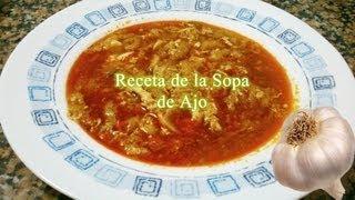 Receta fácil y rápida de sopa de ajo