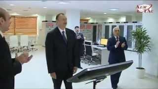 Президент Ильхам Алиев принял участие в открытии в 110/35/6-киловольтных подстанциях Баку(Президент Азербайджана Ильхам Алиев принял участие в открытии 110-киловольтных электрических подстанций..., 2015-02-09T16:26:33.000Z)