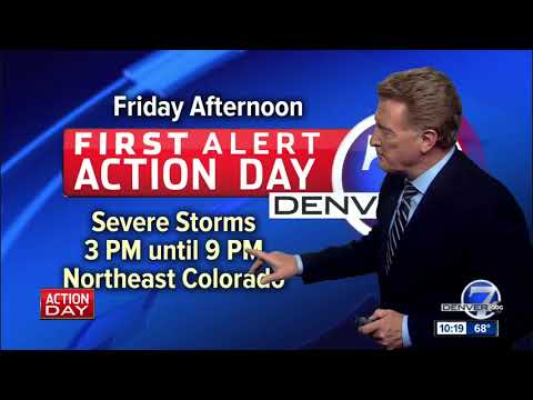 First Alert Action Day for Friday: Threat of severe weather in Denver