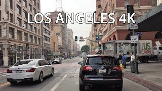Driving Downtown - Los Angeles California USA 4K