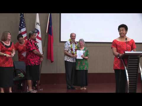 Peace Corps Swearing-in Ceremony, Apia, Samoa, December 11, 2015