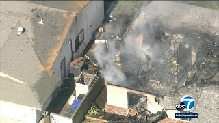 Upland plane crash: Pilot killed after plane crashes into house, sparking massive fire | ABC7