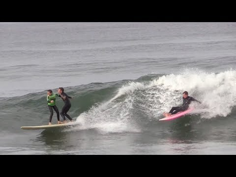The tandem SURF OFF! Groms and Pros pull off INSANE rides - RAW BEEFS