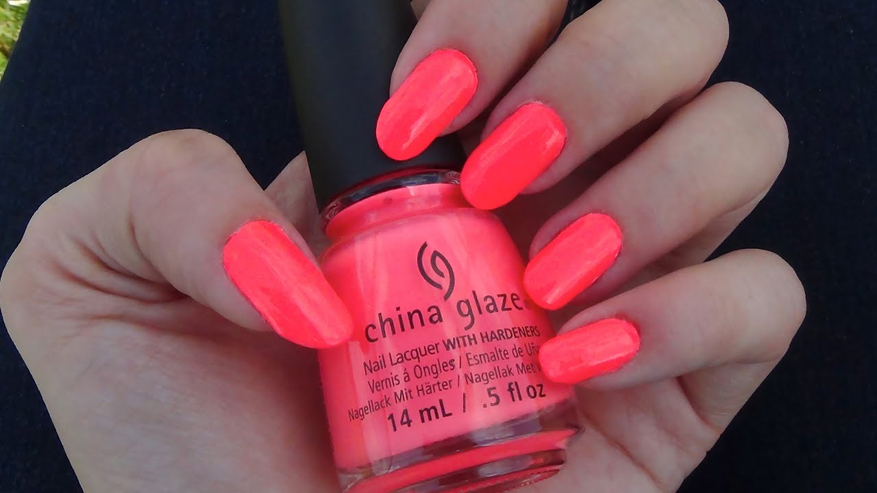 China Glaze Thistle Do Nicely Neon Nail Polish