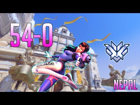 [Overwatch] Emongg - D.Va Nepal (54-0) Defense Matrix is a friend