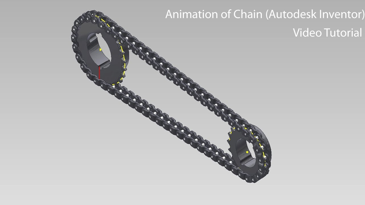Animation of chain video tutorial autodesk inventor youtube ccuart Image collections