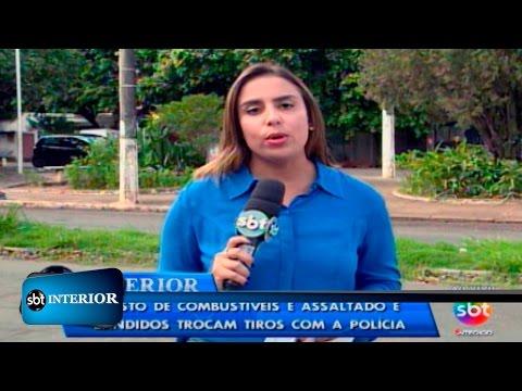 Assalto em posto de combustíveis termina em tiroteio na região de Andradina