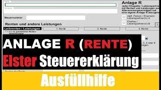 Anlage R Elster | Elster Tutorial | Steuererklärung selber machen