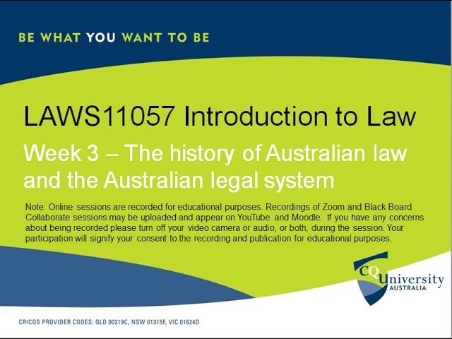 development of australian law 01 the australian legal system 5 transgressed and, where possible, provides the means for the peaceful settlement of disputes by doing so, law provides stability, certainty and predictability to a society.