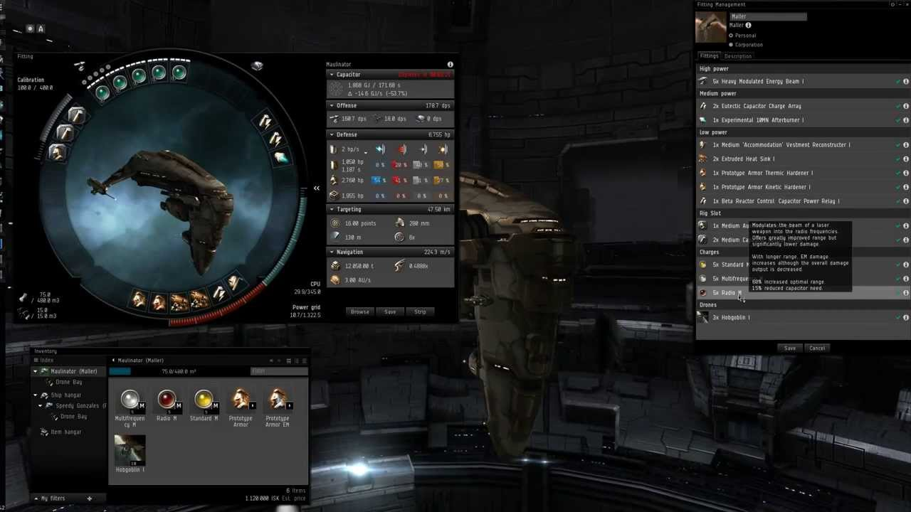 EVE Online - MOAR LAZORS! Maller Fitting Guide + Gameplay Ep